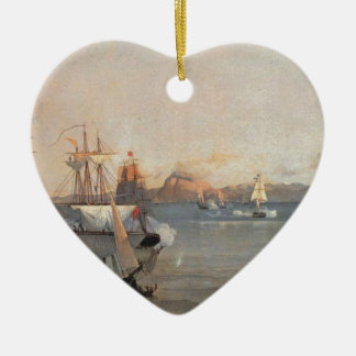 Sea Battle at the Bay of Patrae Ioannis Altamouras Ceramic Ornament