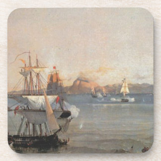 Sea Battle at the Bay of Patrae Ioannis Altamouras Drink Coaster