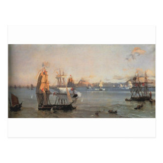 Sea Battle at the Bay of Patrae Ioannis Altamouras Postcard