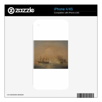 Sea battle by Ivan Aivazovsky iPhone 4S Decals