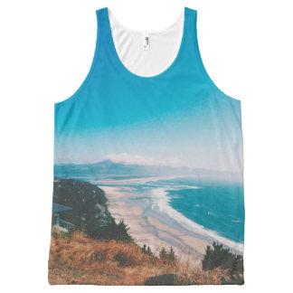 Sea, beach and blue sky Tanktop All-Over Print Tank Top