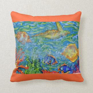 Sea Beach Florida Art Throw Pillows