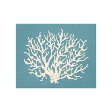 Beach Themed Sea Beach House Coral Wall Art Canvas