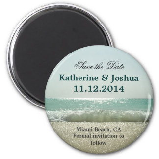 sea beach save the date magnets