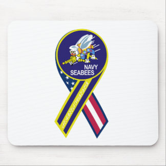 Sea Bees Navy Patch Mousepad
