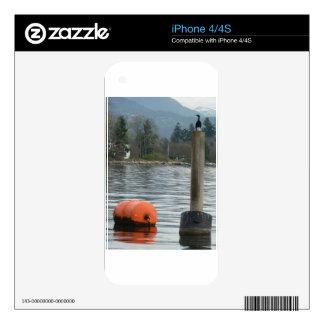 Sea Bird and Barrel in Coal Harbour iPhone 4S Decal