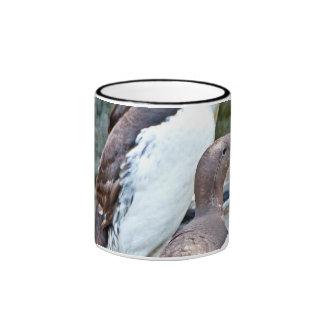 Sea Bird On Rock Stone Ringer Coffee Mug