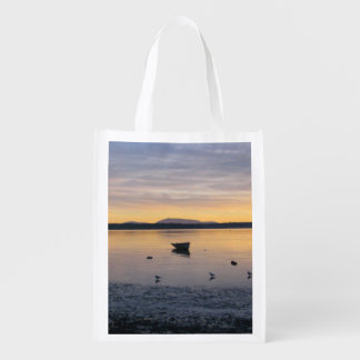 Sea Birds and Boat Reusable Grocery Bag