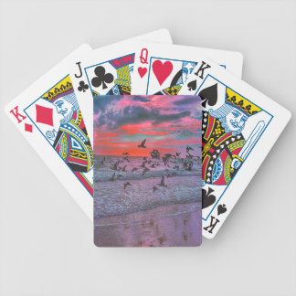 Sea Birds Flying Over Tropical Beach Bicycle Playing Cards