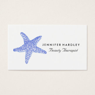 Sea Blue Beach Starfish Business Card