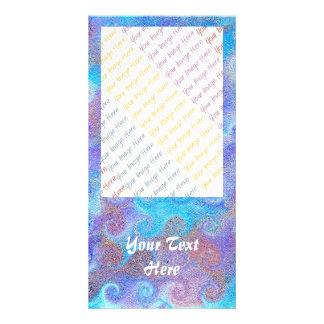 Sea Blue Curls Card