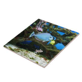Sea Blue Fish Tile