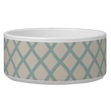 Beach Themed Sea Blue Geometric Bowl
