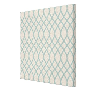 Beach Themed Sea Blue Geometric Canvas Print