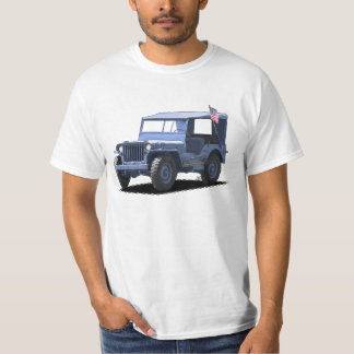 Sea Blue MJ Military Vehicle T-Shirt