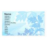 Sea Blue Modern Leaf and Vine Business Card