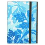 Sea Blue Modern Leaf and Vine iPad Case