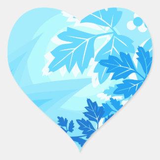 Sea Blue Modern Leaf and Vine Stickers