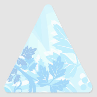 Sea Blue Modern Leaf and Vine Triangle Stickers