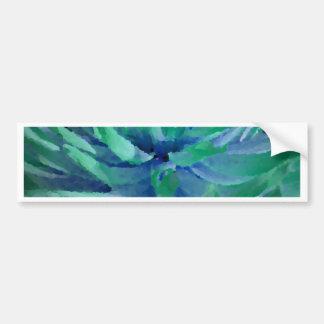 Sea blue, ocean green, dahlia, large bloom car bumper sticker