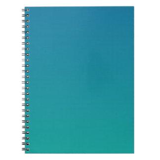 Sea Blue to Light Sea Green Horizontal Gradient Spiral Notebook