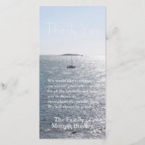 Sea Boat and Island 2 Sympathy Thank You