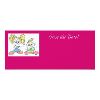 "Sea boda de la mina ""reserva tarjeta de la fecha"" invitación 4"" x 9.25"""