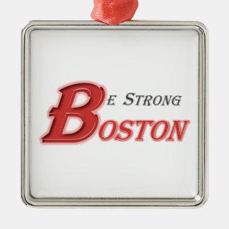 Sea Boston fuerte Adorno Navideño Cuadrado De Metal