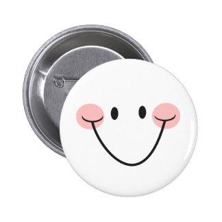 Sea botón o insignia sonriente feliz del pinback d pin