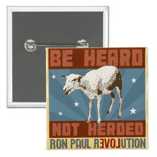 """""""Sea"""" botón oído de Ron Paul"""