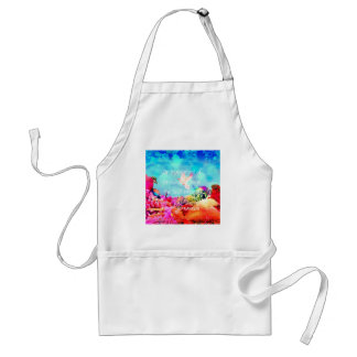 Sea bottom among corals and quote adult apron