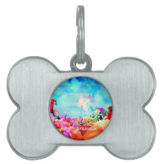 Sea bottom among corals and quote pet ID tag
