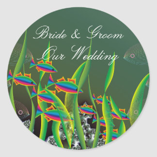 Sea Bottom Wedding Sticker
