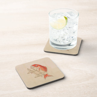 Sea Bream Youkai (Wedding Scroll) Beverage Coaster