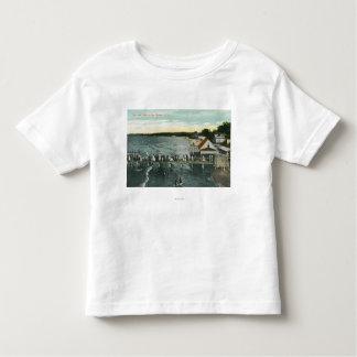 Sea Breeze Pier and Lake Scene Toddler T-shirt