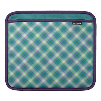 Sea Breeze Tartan Plaid, iPad Sleeve