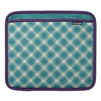 Sea Breeze Tartan Plaid, iPad Sleeve