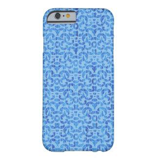 Sea Breezes Elegant Blue and Aqua Beach Damask iPhone 6 Case