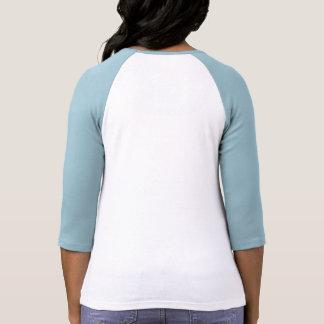 Sea BRILLANTE, la camisa cabida raglán de la mujer