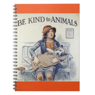 Sea bueno con el cuaderno de los animales