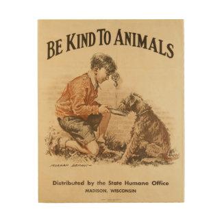 Sea bueno con el poster 1932 del vintage de los cuadro de madera