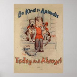 Sea bueno con el poster de los animales