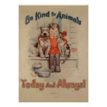 Sea bueno con el poster de los animales póster