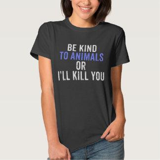 Sea bueno con la camiseta de los animales playeras