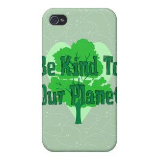 Sea bueno con nuestro planeta iPhone 4 carcasa