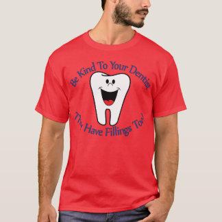 Sea bueno con su dentista que tienen T-S de los Playera