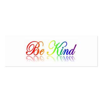 Sea bueno - el respecto otros marca una dirección tarjetas de visita mini