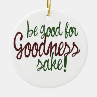 Sea bueno para el motivo de la calidad adorno navideño redondo de cerámica