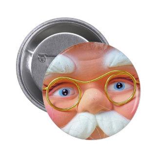 ¡Sea bueno! ¡Santa está mirando en usted! Pin Redondo De 2 Pulgadas