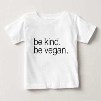 sea bueno sea camiseta del bebé del vegano